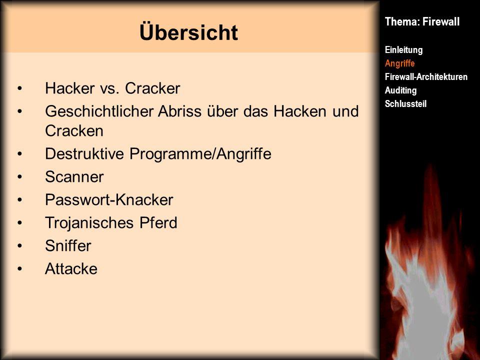 Übersicht Hacker vs. Cracker