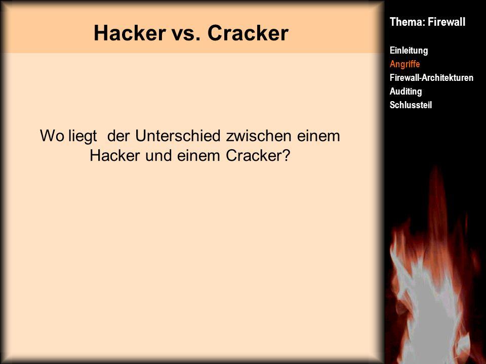Wo liegt der Unterschied zwischen einem Hacker und einem Cracker