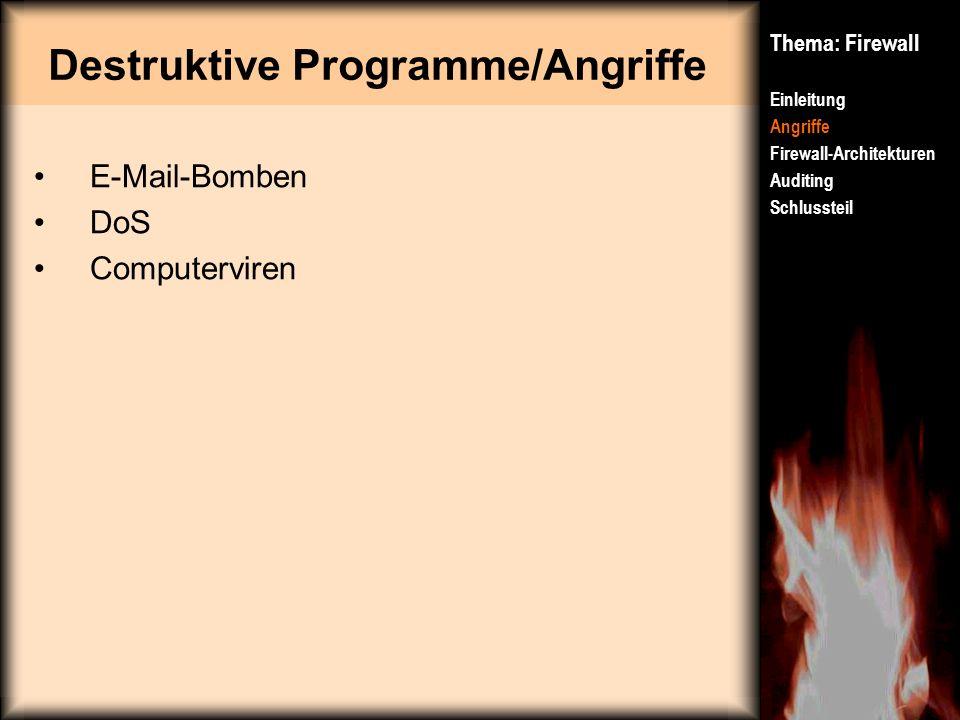 Destruktive Programme/Angriffe