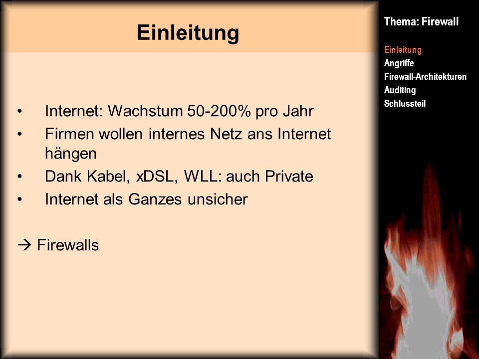 Einleitung Internet: Wachstum 50-200% pro Jahr