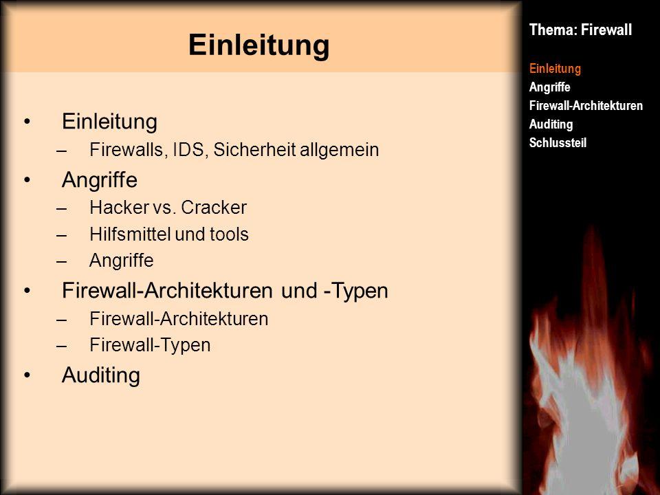 Firewall-Architekturen und -Typen