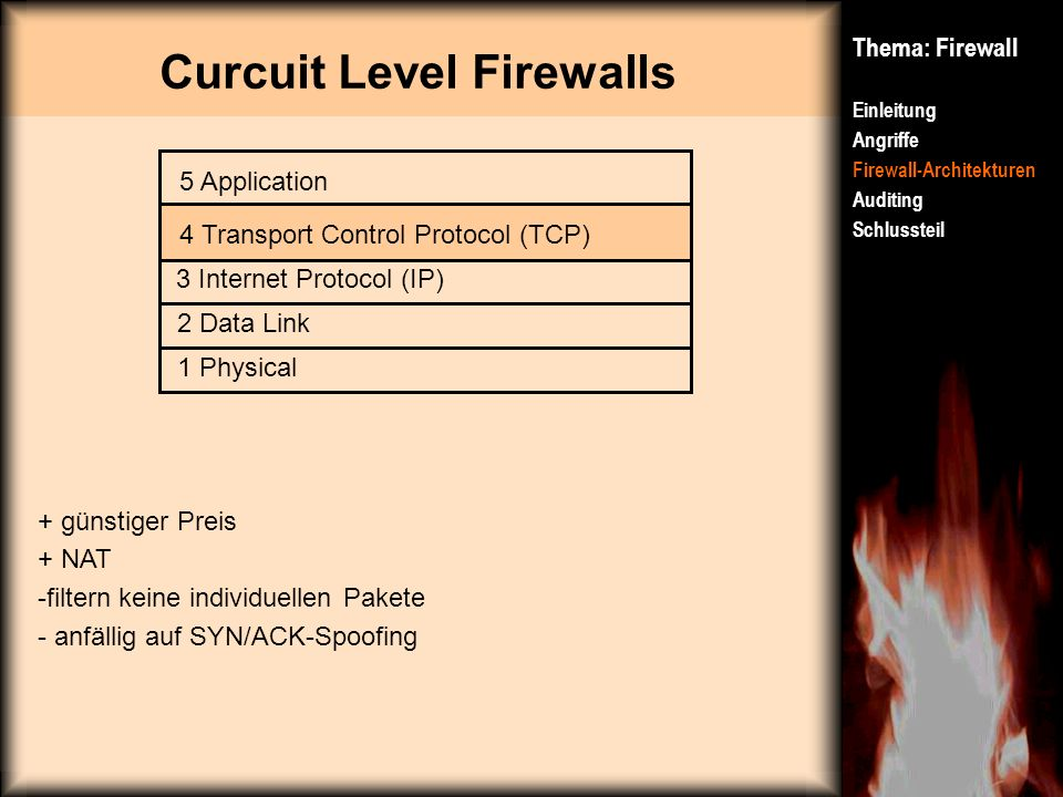 Curcuit Level Firewalls