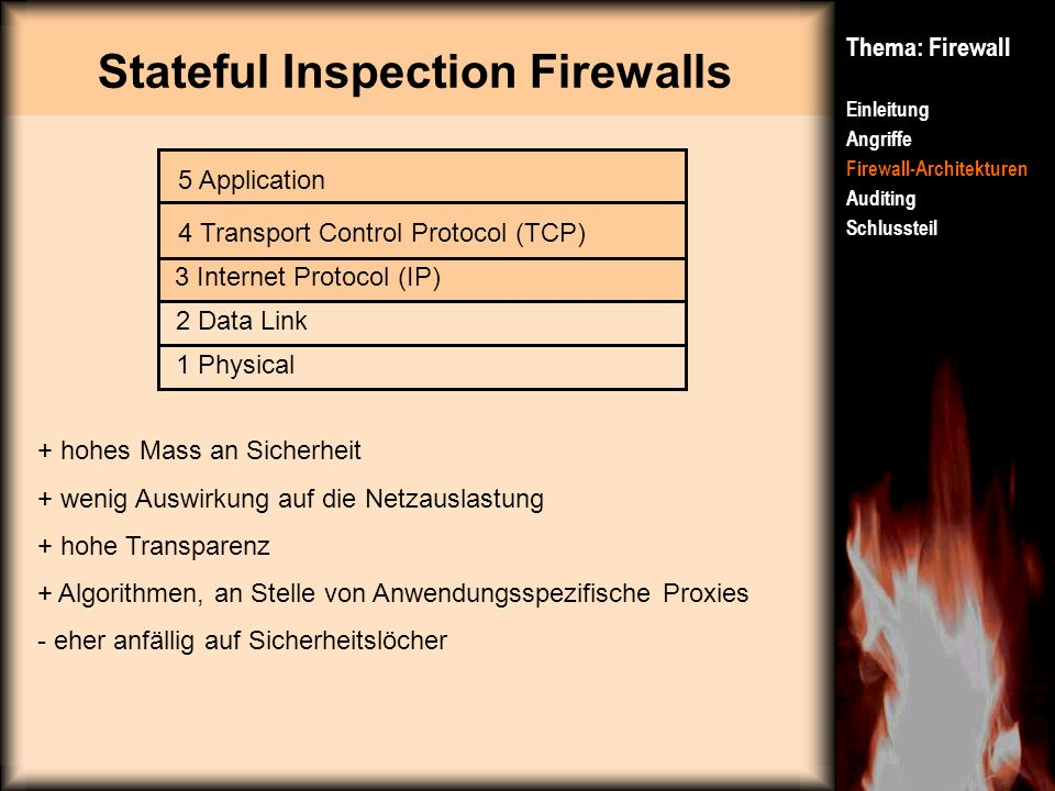 Stateful Inspection Firewalls