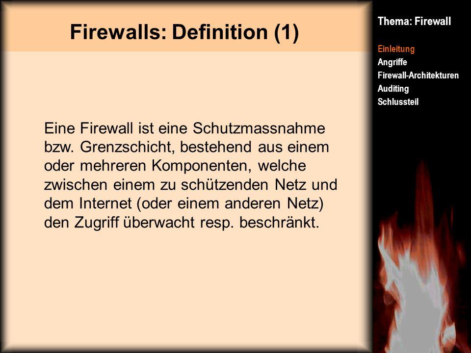 Firewalls: Definition (1)