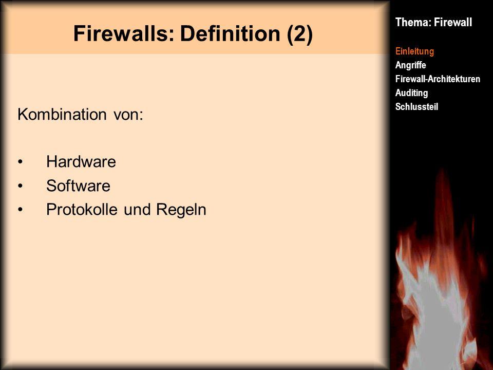 Firewalls: Definition (2)
