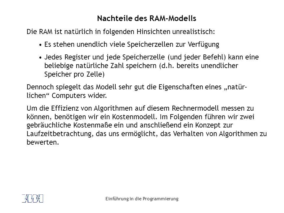 Nachteile des RAM-Modells
