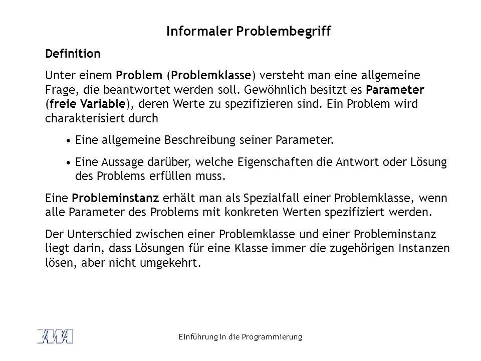 Informaler Problembegriff