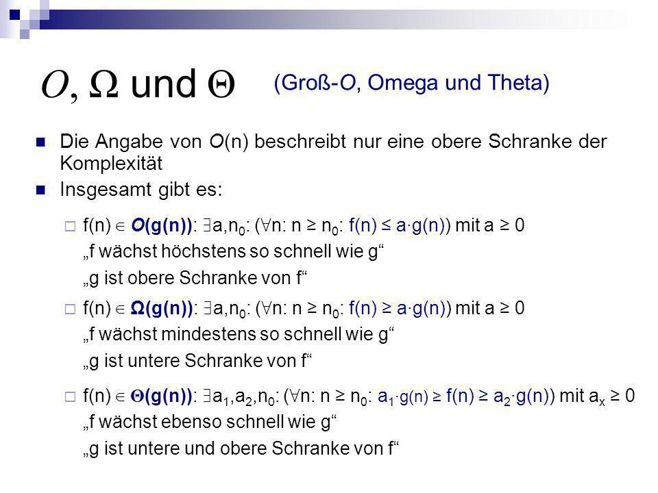 O, Ω und Θ (Groß-O, Omega und Theta)