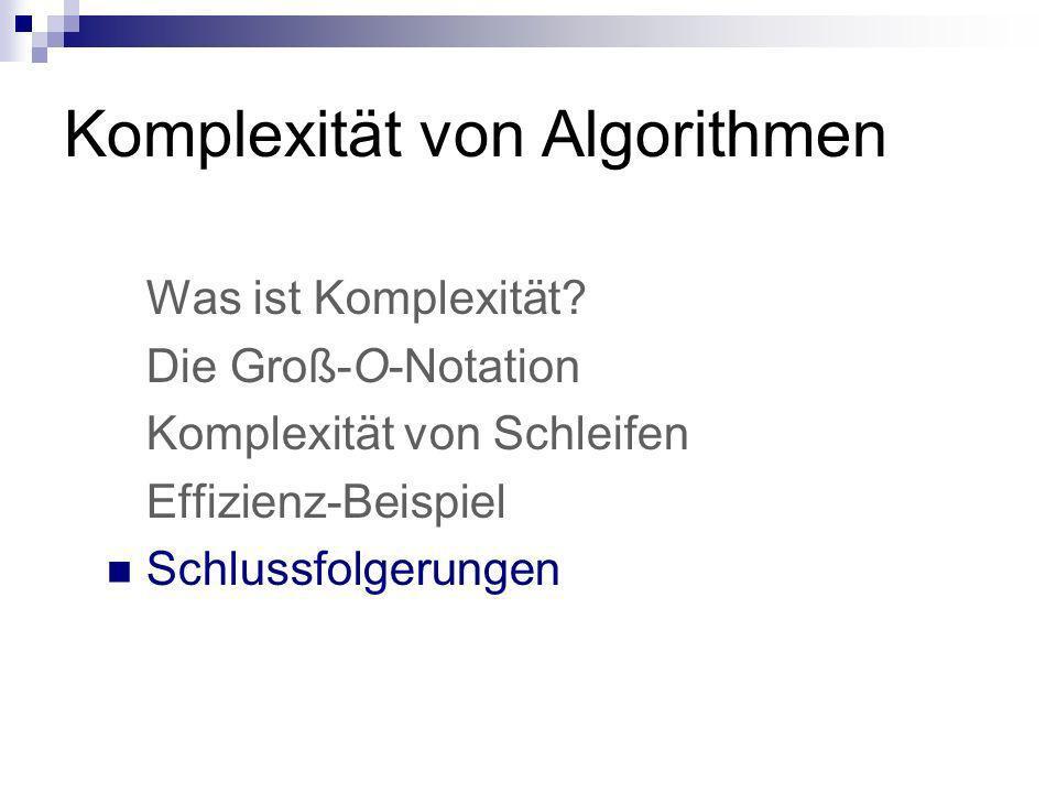 Komplexität von Algorithmen