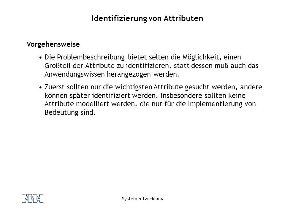 Identifizierung von Attributen