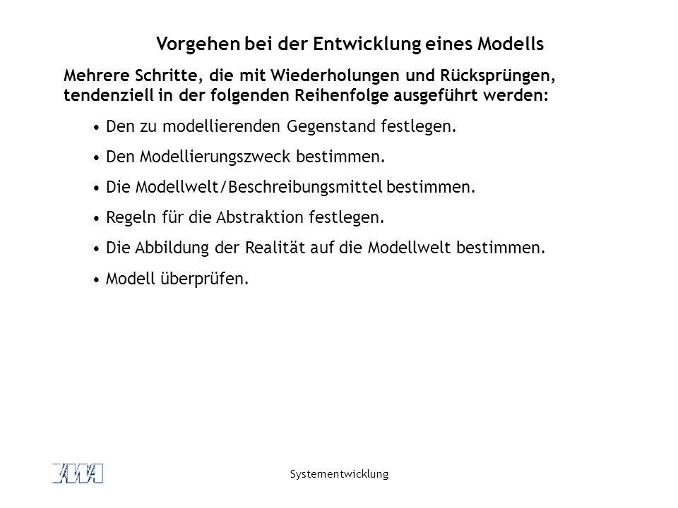 Vorgehen bei der Entwicklung eines Modells