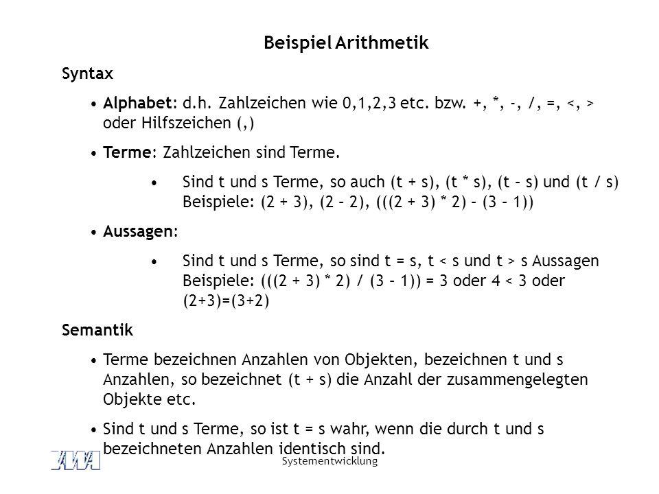 Beispiel Arithmetik Syntax