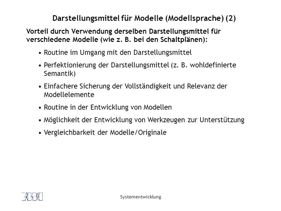 Darstellungsmittel für Modelle (Modellsprache) (2)
