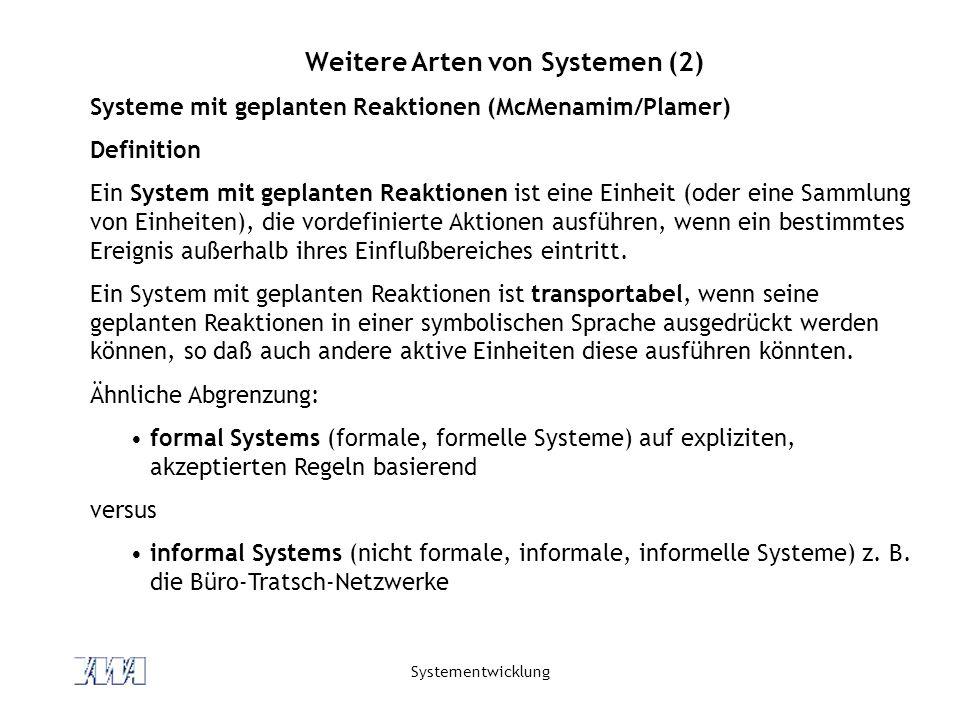 Weitere Arten von Systemen (2)
