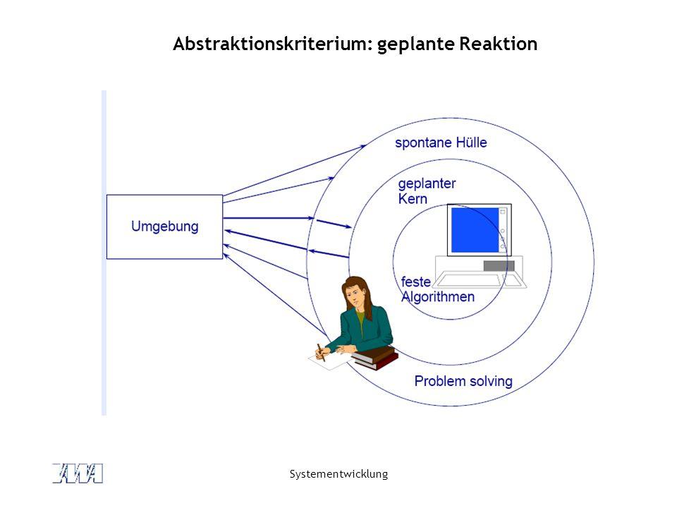 Abstraktionskriterium: geplante Reaktion