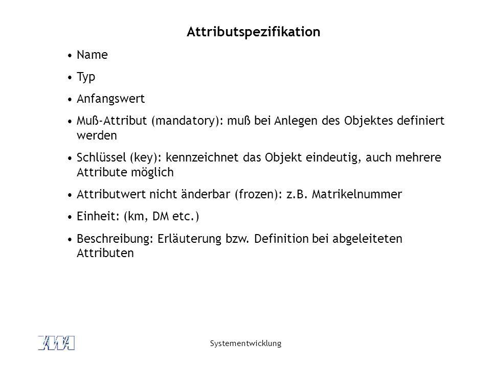 Attributspezifikation
