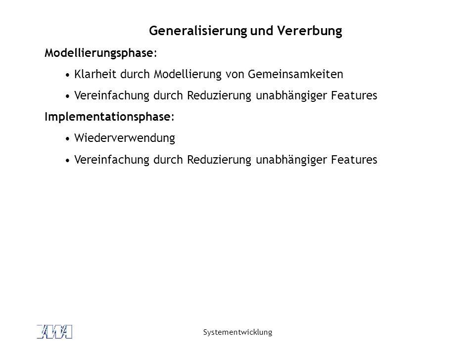 Generalisierung und Vererbung