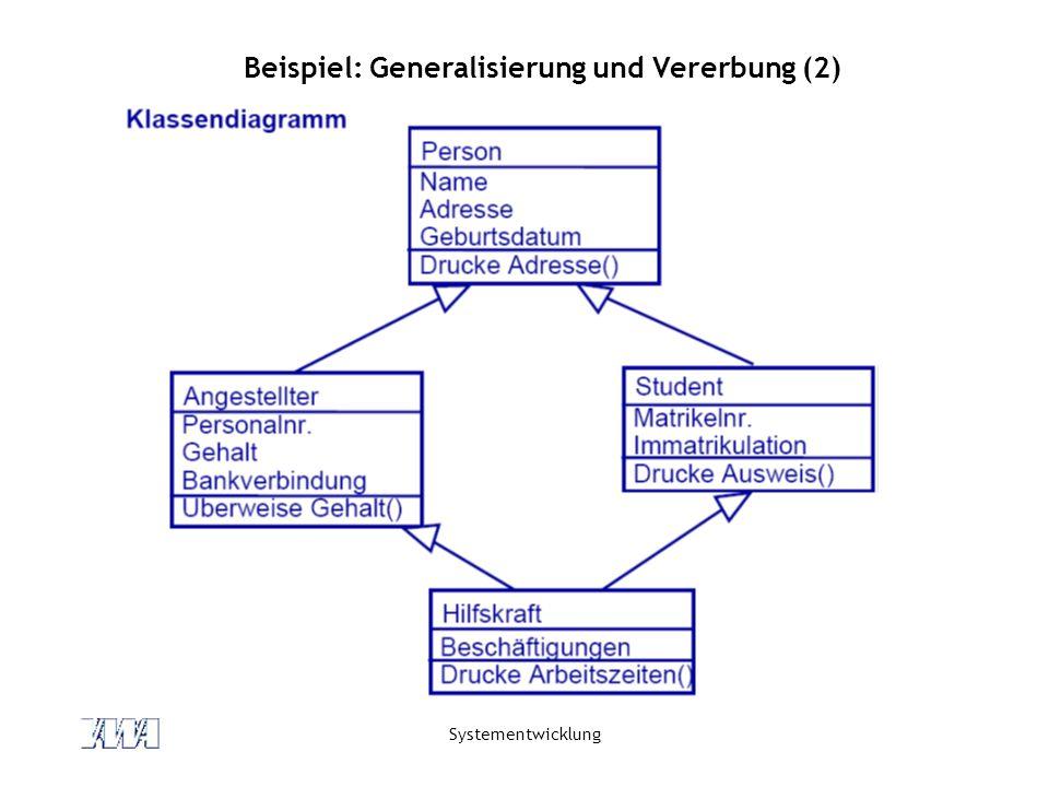 Beispiel: Generalisierung und Vererbung (2)