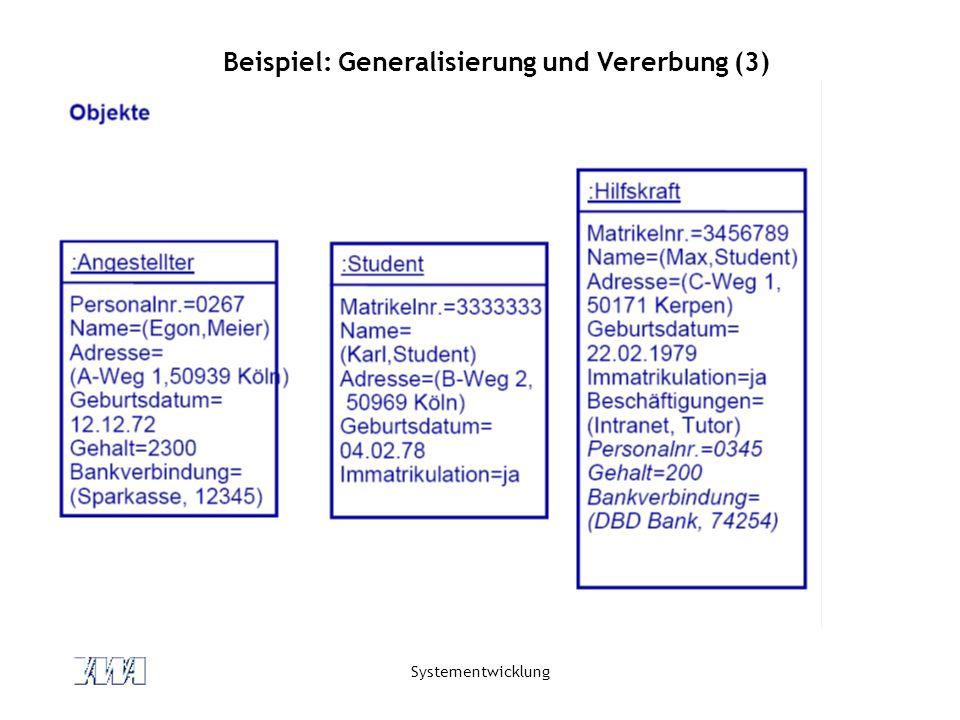 Beispiel: Generalisierung und Vererbung (3)