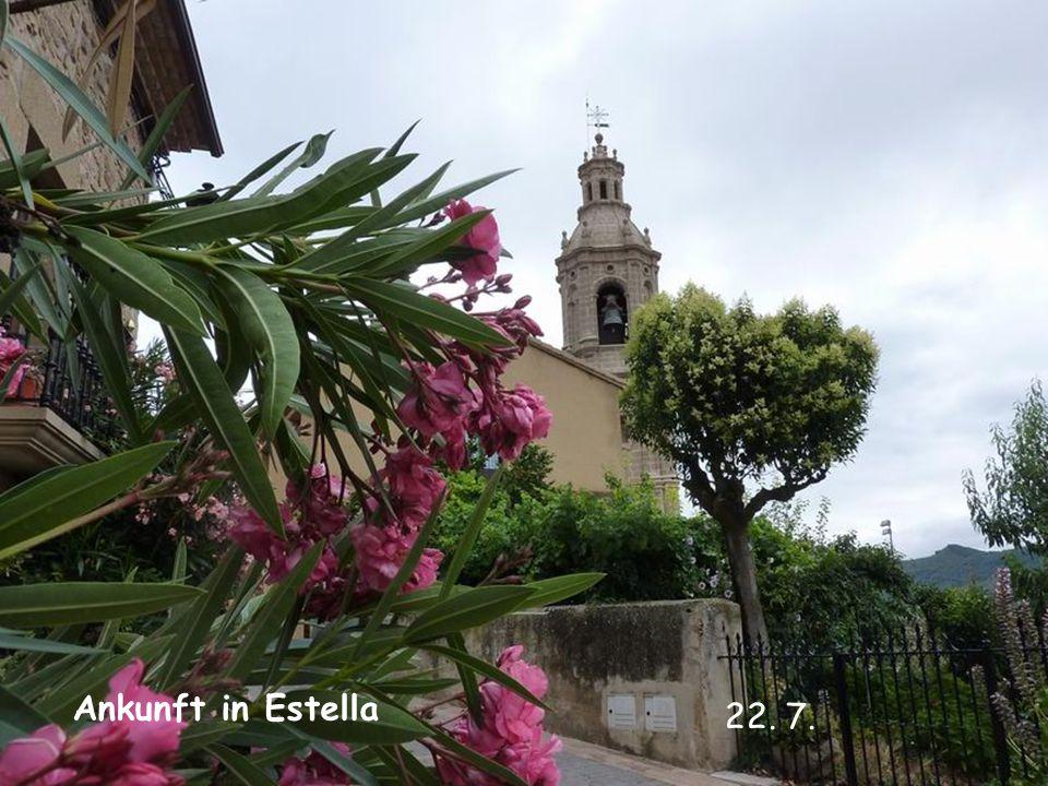 Ankunft in Estella 22. 7.