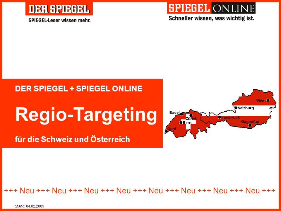 Regio-Targeting DER SPIEGEL + SPIEGEL ONLINE