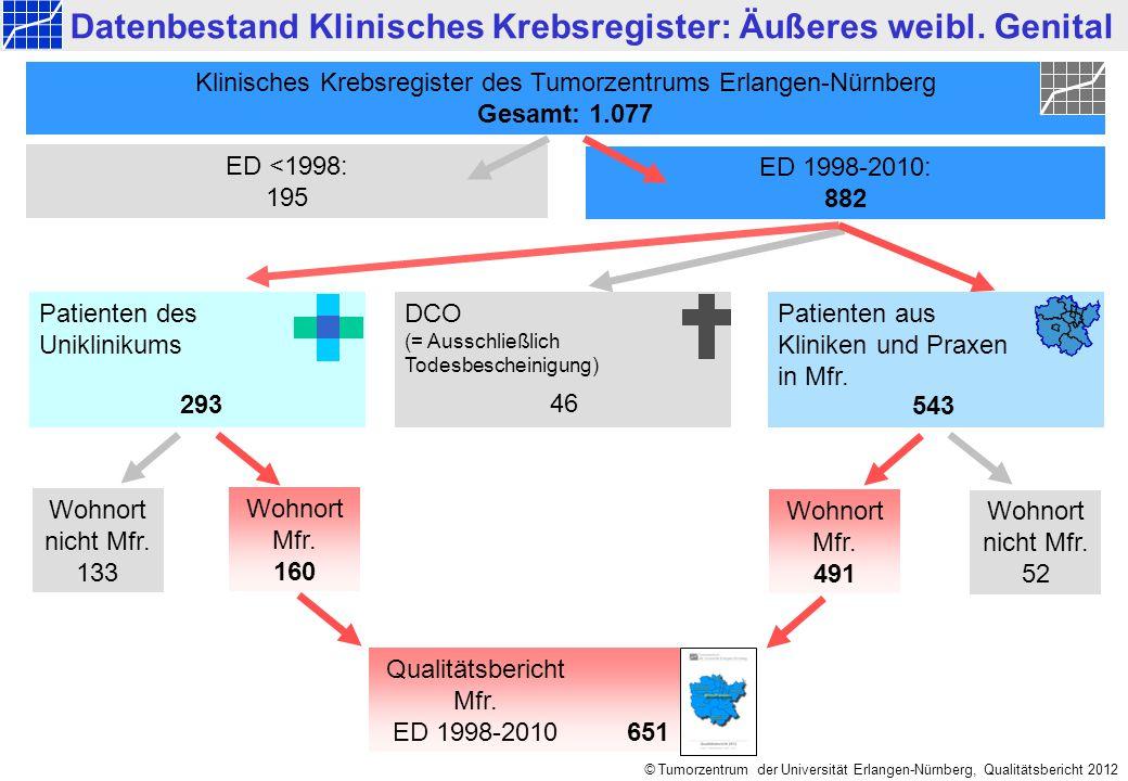 Datenbestand Klinisches Krebsregister: Äußeres weibl. Genital