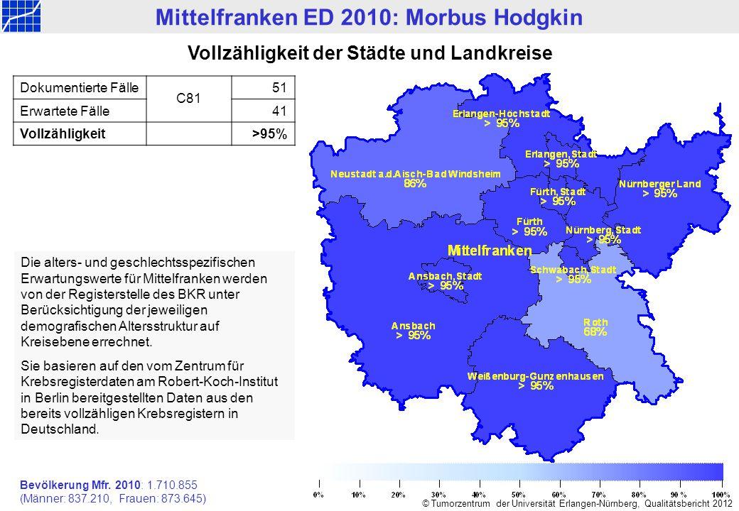 Mittelfranken ED 2010: Morbus Hodgkin