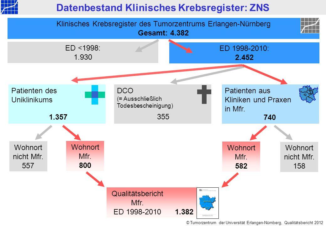 Datenbestand Klinisches Krebsregister: ZNS