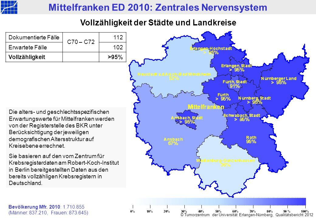 Mittelfranken ED 2010: Zentrales Nervensystem