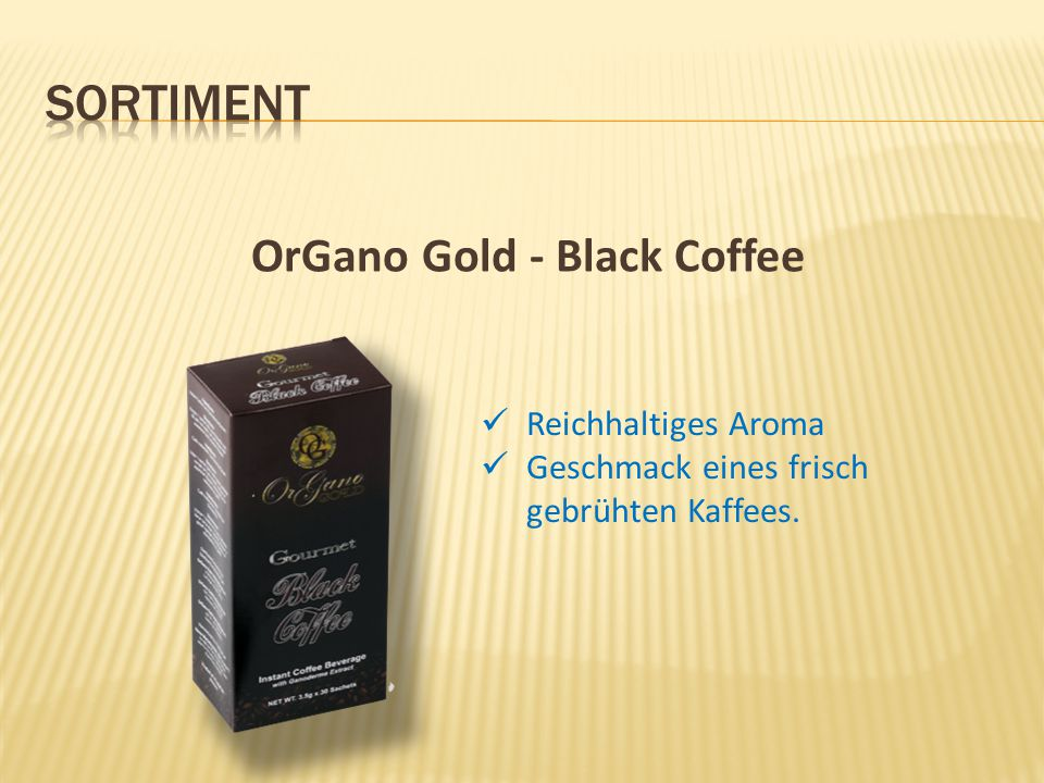 OrGano Gold - Black Coffee
