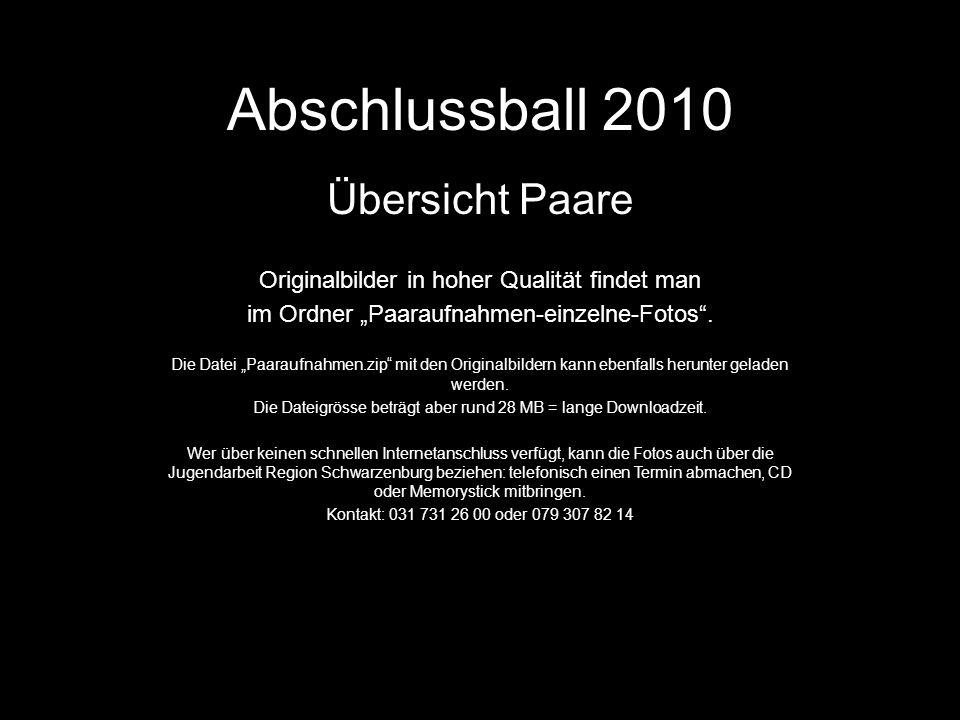 Abschlussball 2010 Übersicht Paare