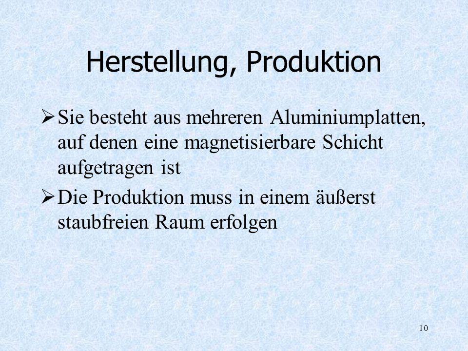 Herstellung, Produktion