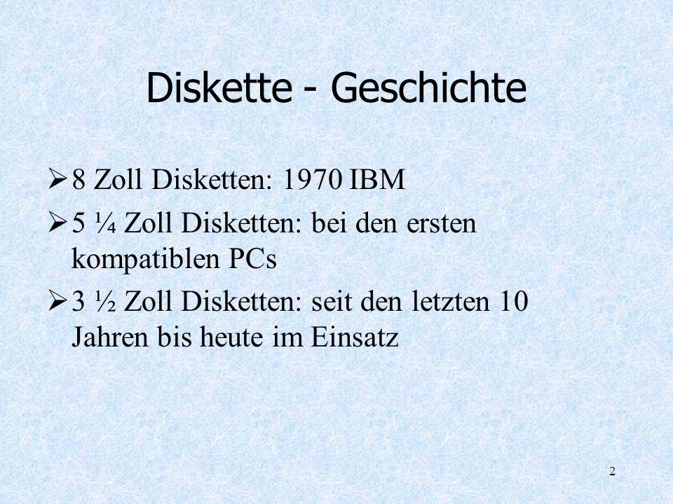 Diskette - Geschichte 8 Zoll Disketten: 1970 IBM