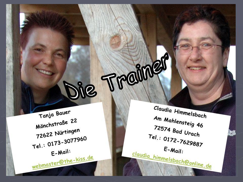 Die Trainer Claudia Himmelsbach Tanja Bauer Am Mahlensteig 46