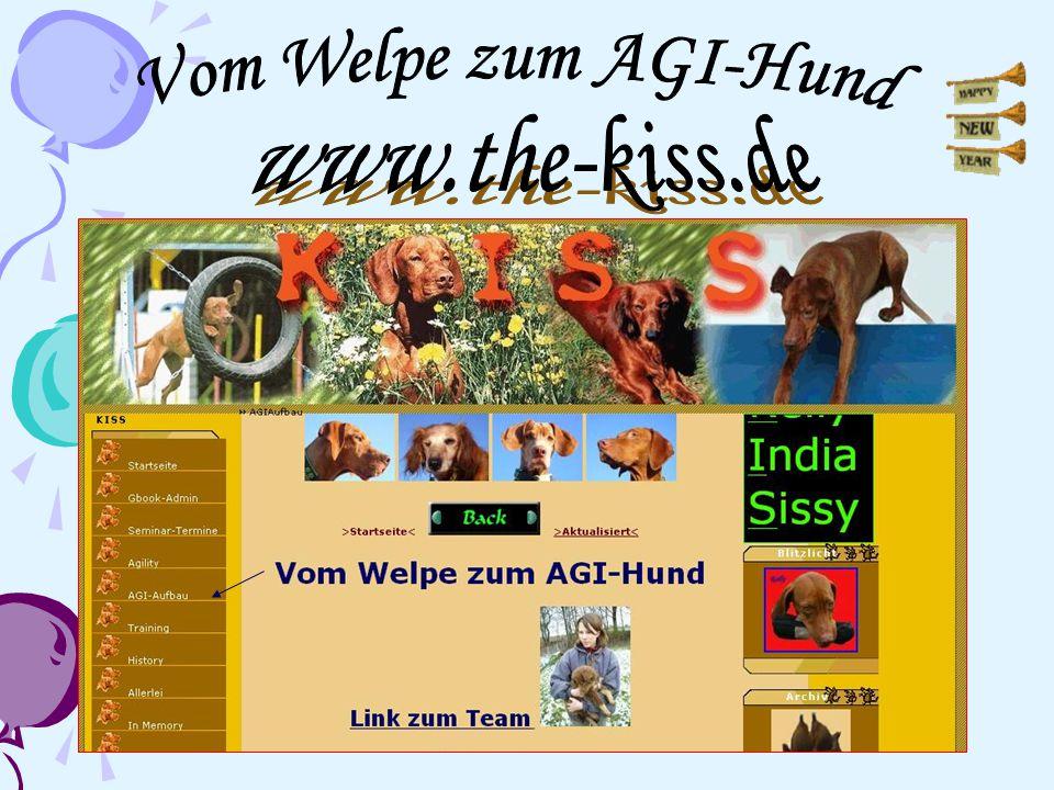 Vom Welpe zum AGI-Hund www.the-kiss.de