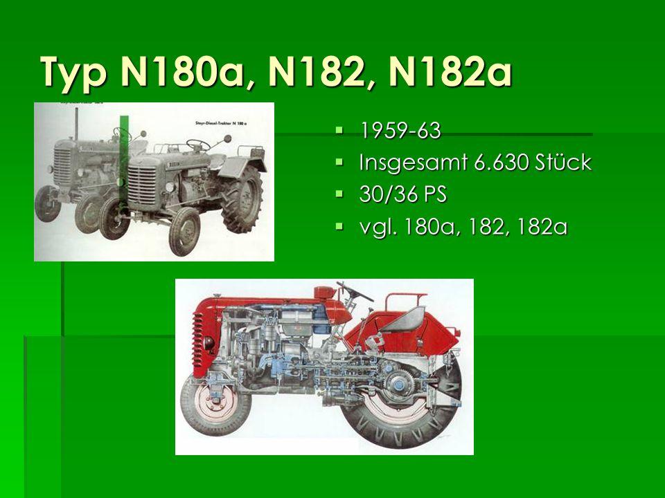 Typ N180a, N182, N182a 1959-63 Insgesamt 6.630 Stück 30/36 PS
