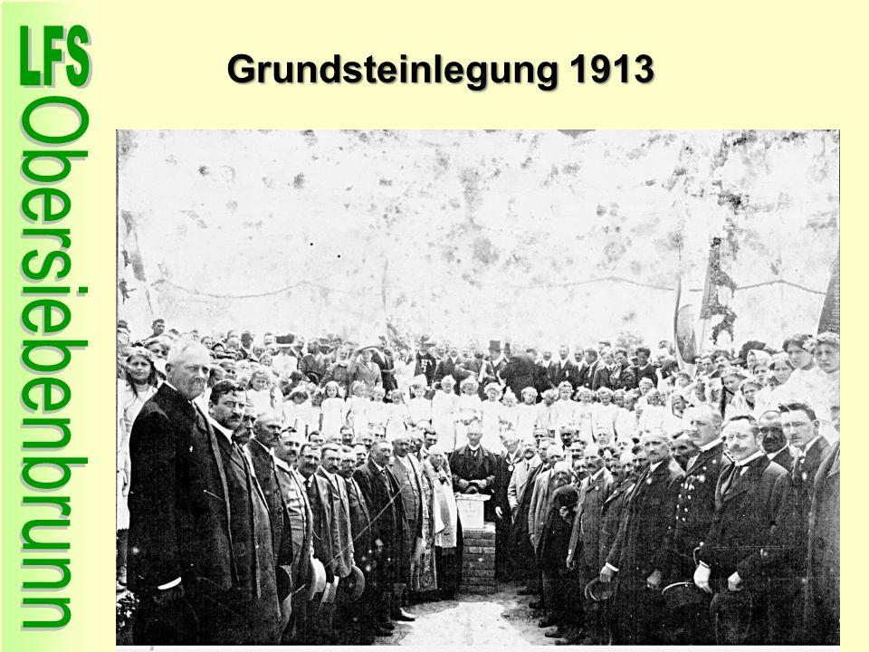 Grundsteinlegung 1913