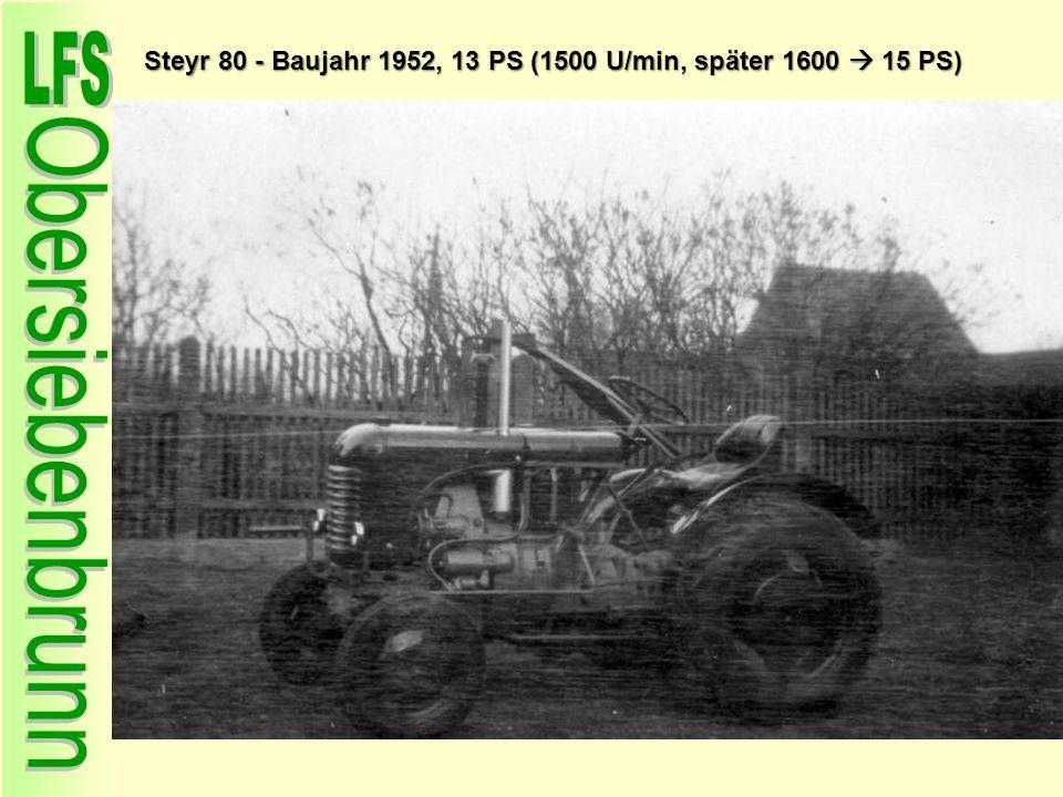 Steyr 80 - Baujahr 1952, 13 PS (1500 U/min, später 1600  15 PS)