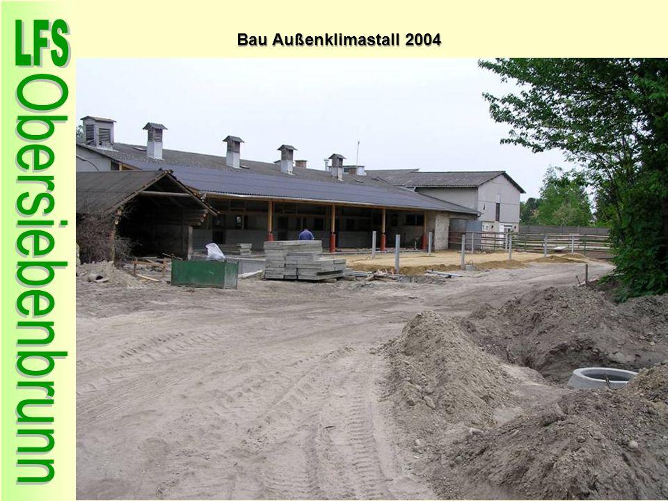 Bau Außenklimastall 2004 59