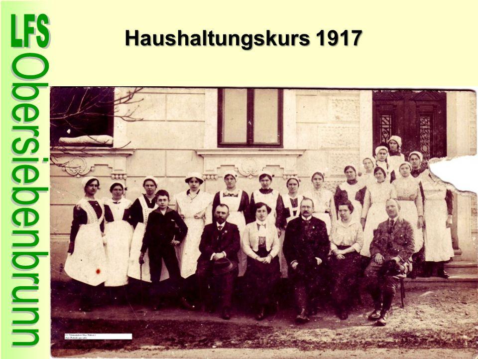 Haushaltungskurs 1917