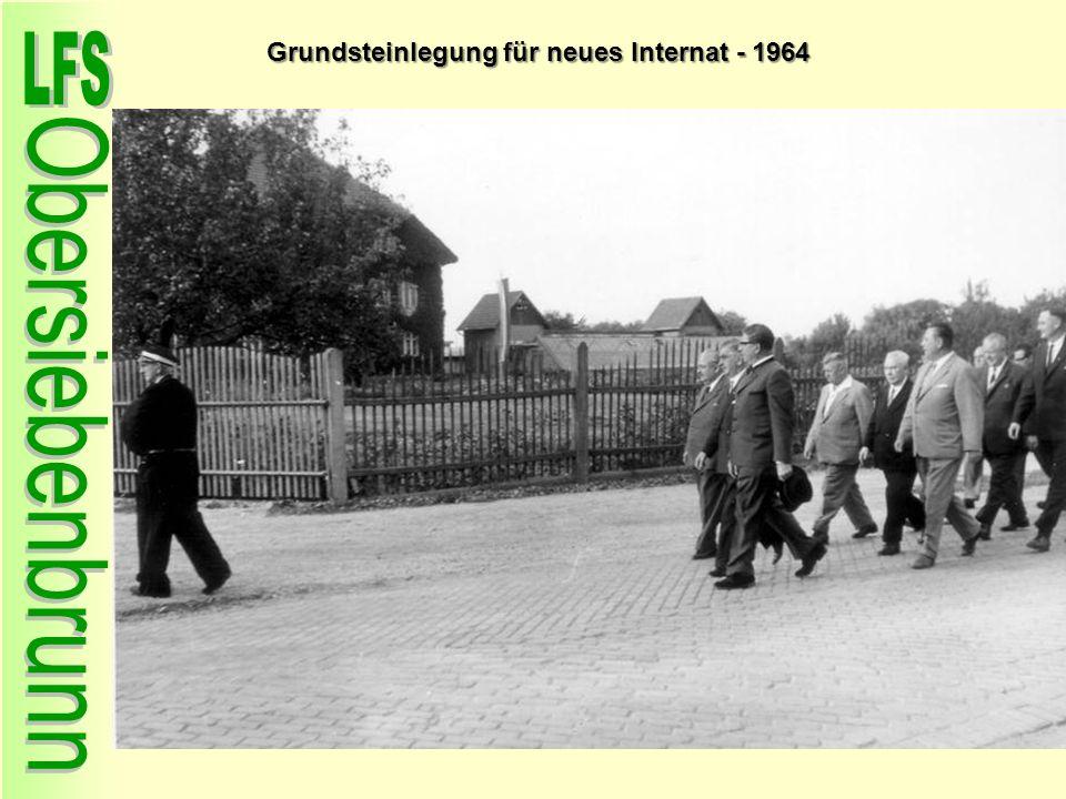 Grundsteinlegung für neues Internat - 1964
