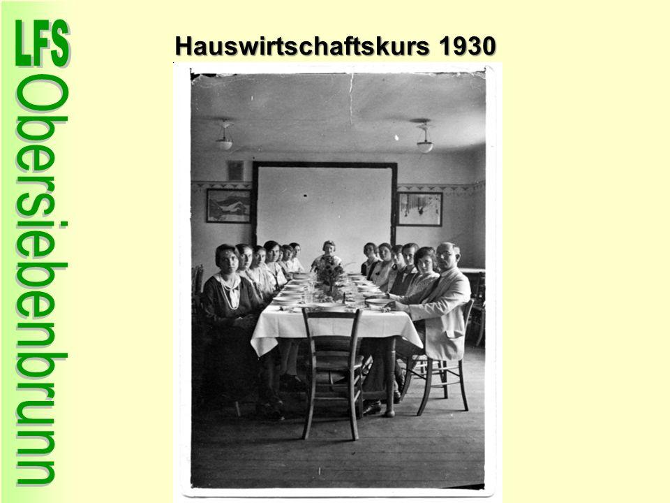 Hauswirtschaftskurs 1930