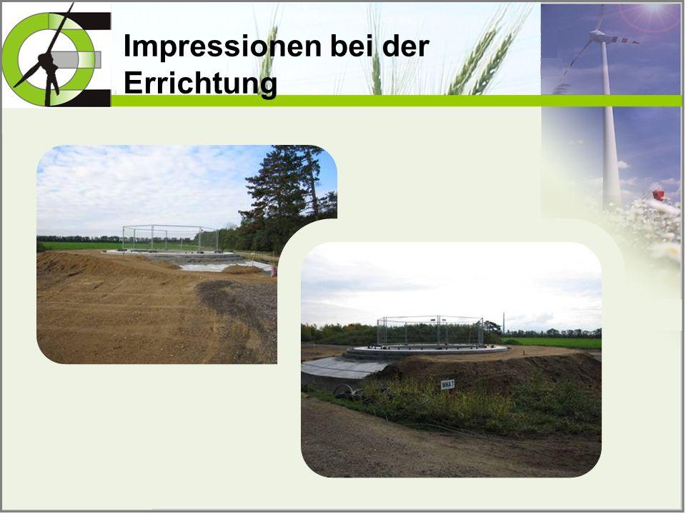 Impressionen bei der Errichtung
