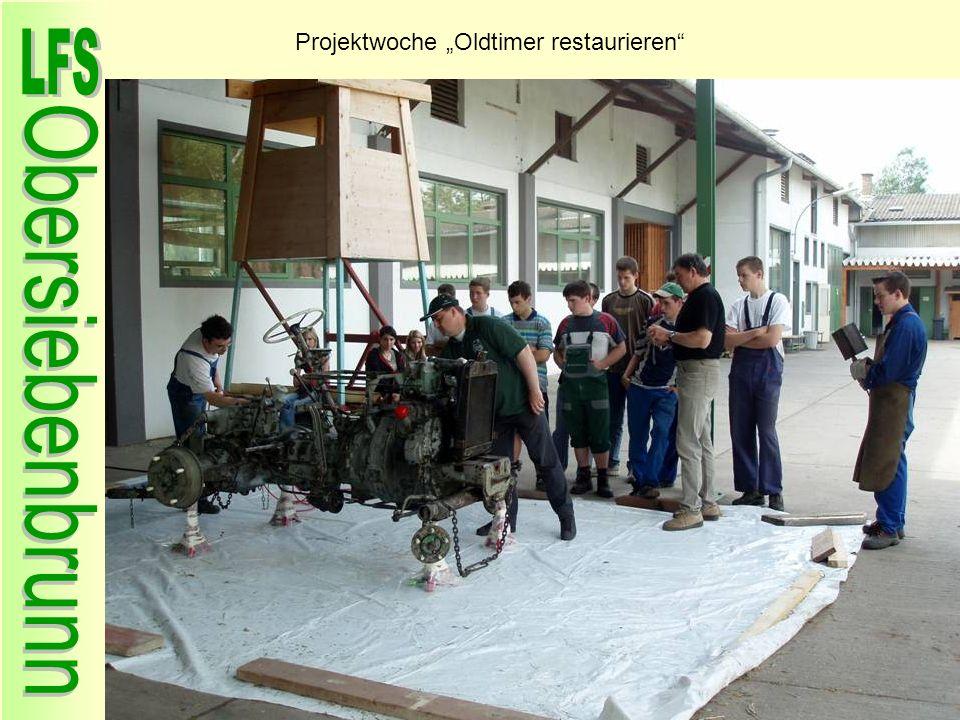 """Projektwoche """"Oldtimer restaurieren"""