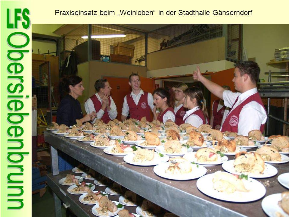 """Praxiseinsatz beim """"Weinloben in der Stadthalle Gänserndorf"""