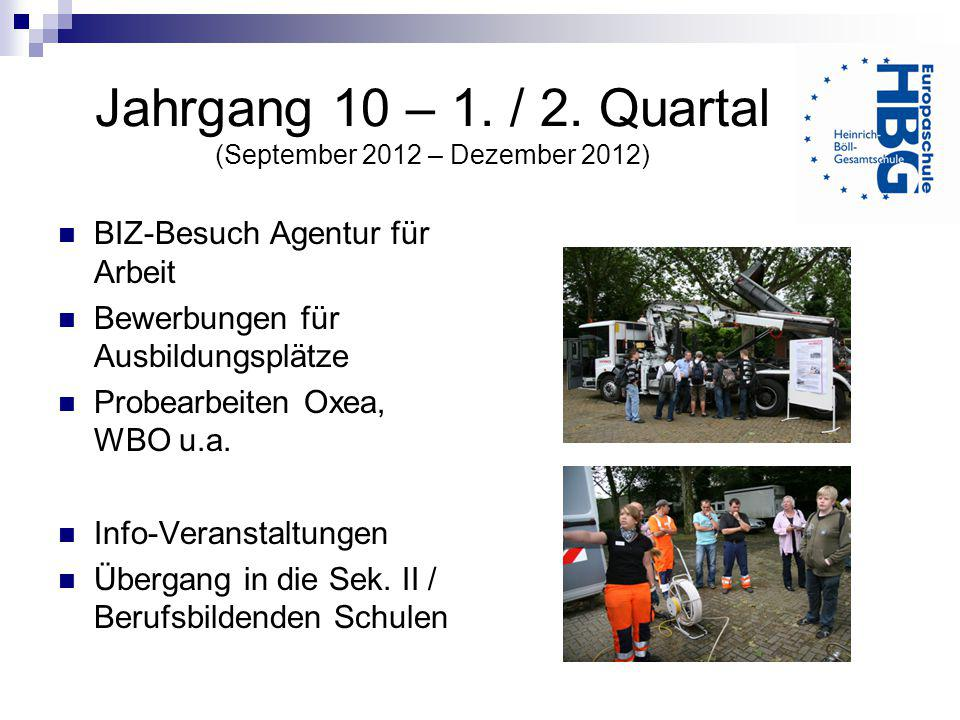 Jahrgang 10 – 1. / 2. Quartal (September 2012 – Dezember 2012)