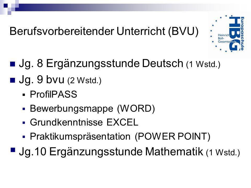 Berufsvorbereitender Unterricht (BVU)