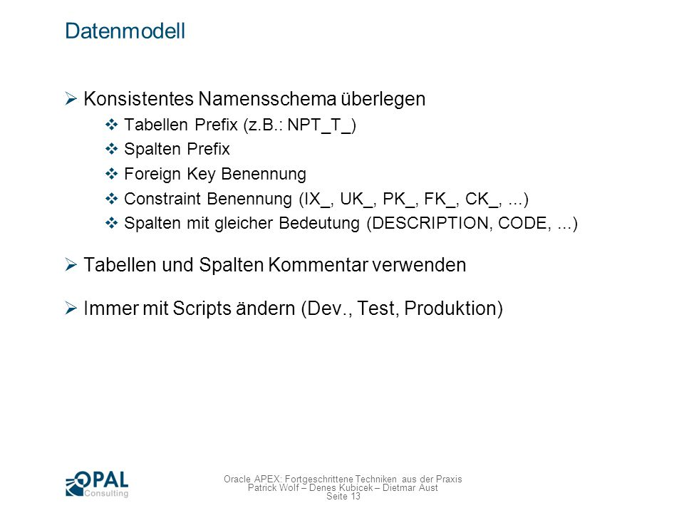 Datenmodell - Conclusio