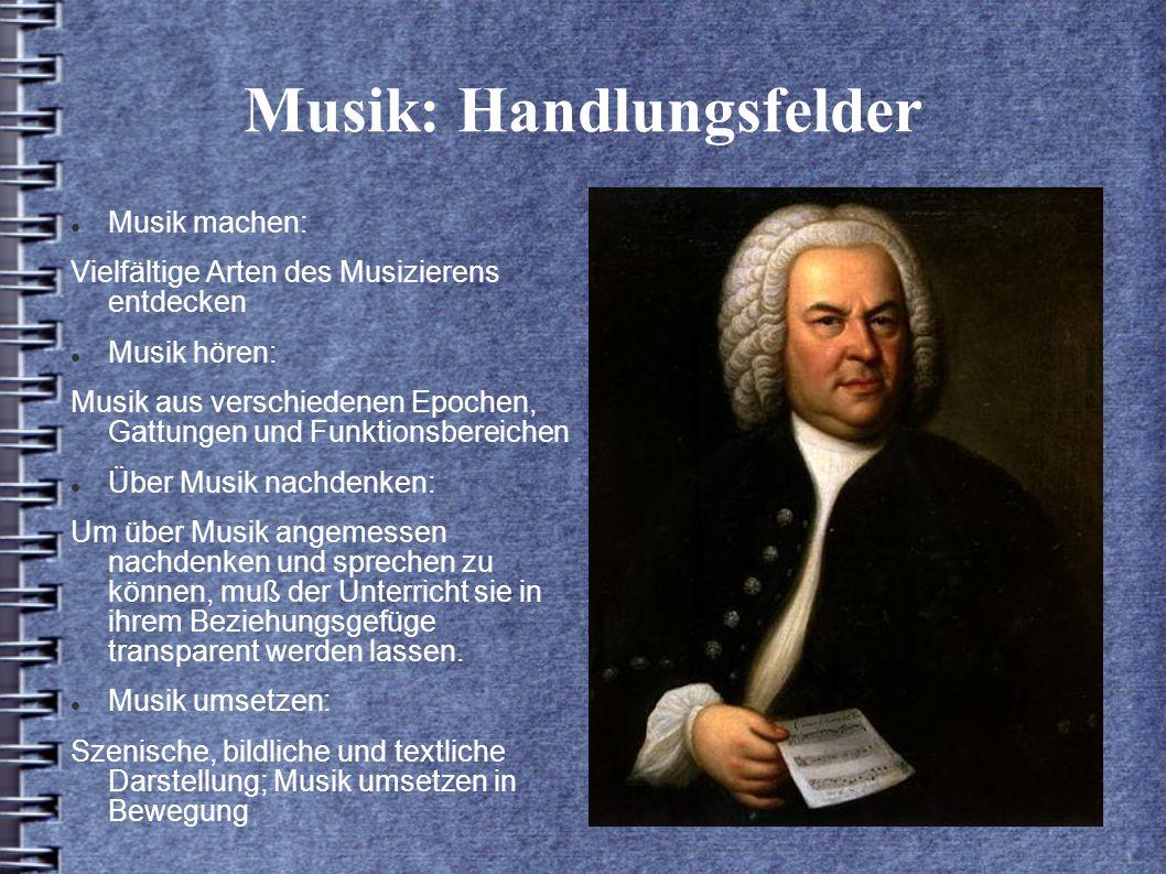 Musik: Handlungsfelder