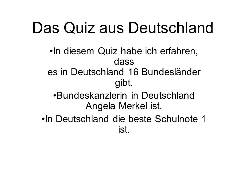 Das Quiz aus Deutschland